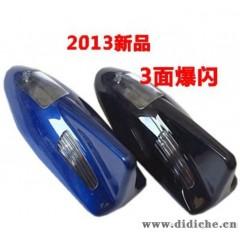 三面爆闪灯 太阳能警示灯 汽车装饰灯 改装用品 吸顶灯 仿鲨鱼鳍