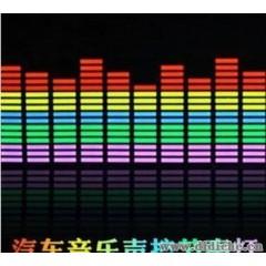 批发90*25CM汽车LED音乐灯节奏声控灯后玻璃装饰灯冷光音响灯