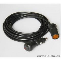 带开关/12V汽车点烟器插座延长线/车用点烟器电源延长线/1.5米