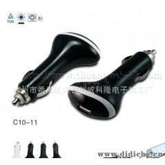 专业生产批发带CE&ROHS认证的USB车充,输出5V 1A,2000个起