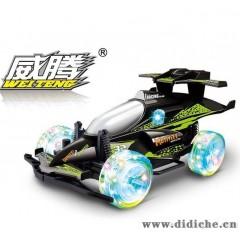 胜雄386A 1:18竞速赛车威腾遥控车带灯光减震器遥控汽车玩具批发