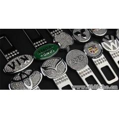 汽车安全带夹 安全保险带扣车标 警报 卡扣 安全带插头 安全带卡