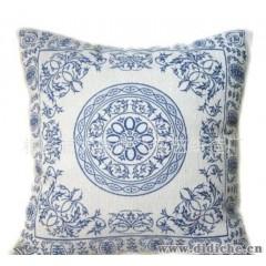 中国风高档布艺加厚s定位提花抱枕 沙发靠垫靠枕 青花瓷