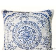 经典中国风 万寿福青花瓷纯棉坐垫椅垫沙发垫 有配套抱枕靠垫热卖