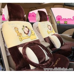 2013新款加菲貓座墊|亞麻女性卡通可愛小貓坐墊冬季汽車女性座套