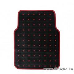 红方格汽车脚垫|可爱时尚卡通环保通用脚垫|加厚防水防滑5片装