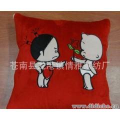 专业生产供应广告抱枕被|小破孩抱枕被|情侣抱枕被