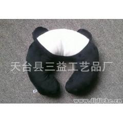 三益卡通U型靠枕小孩U型枕汽車頸枕護頸枕毛絨玩具u型枕阿貍u型枕