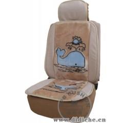 供应海豚印花绒腰靠汽车座垫