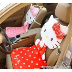 批发|hello|kitty凯蒂猫汽车靠垫|KITTY猫连体座椅靠背|汽车座套