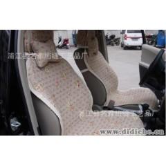 廠家供應 純棉絎縫工藝 汽車墊 七件套 MMQ023茶花汽車墊坐墊