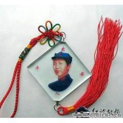 毛主席8角帽青年像汽車掛件|玻璃汽車飾品仿水晶|毛澤東車內精品