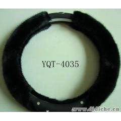 毛绒方向盘套玉蜻蜓YQT-4035穆桂英造型镶钻冬季汽车方向盘套把套