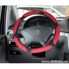 汽車麂皮絨方向盤把套|3D立體|三明治方向盤套|44-1A651