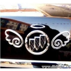 小天使金属车贴|汽车守护神|个性汽车装饰贴|天使翅膀|金属翅膀